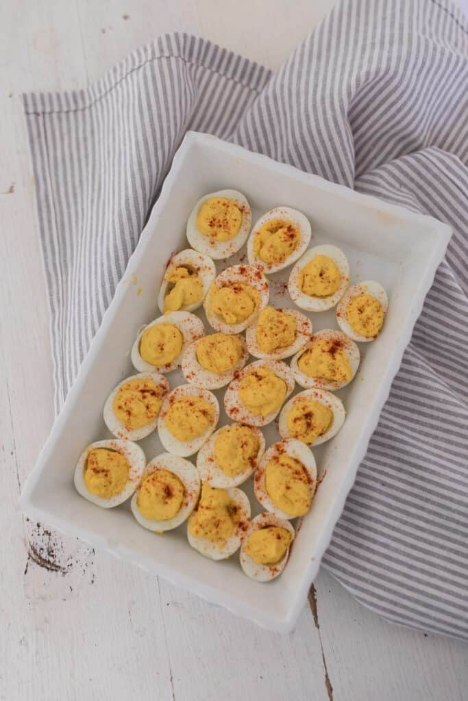 my favorited deviled egg recipe with homemade mayo