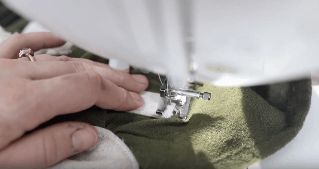 sewing on tabs For DIY Mei tai hood straps